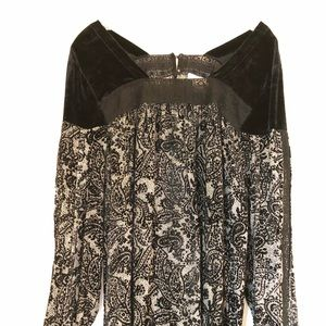 Sundance Burnout Velvet Blouse